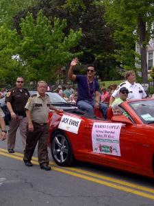 Mario Lopez in the Apple Blossom parade