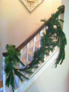 My staircase always looks so boring post-Christmas!