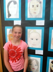 Lili and her self portrait