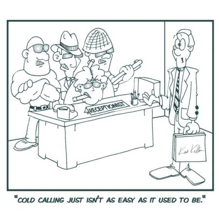 cold calling cartoon