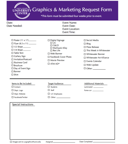 Our Graphic Request Form