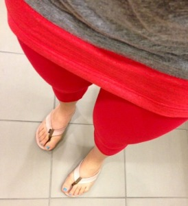 Me and my red lulu super-woman pants!