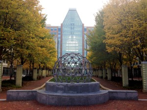The United States Patent and Trademark Office's Madison Building is quiet a beauty, especially with the leaves turning.